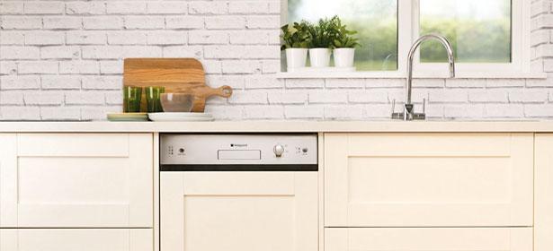 Semi-integrated dishwasher