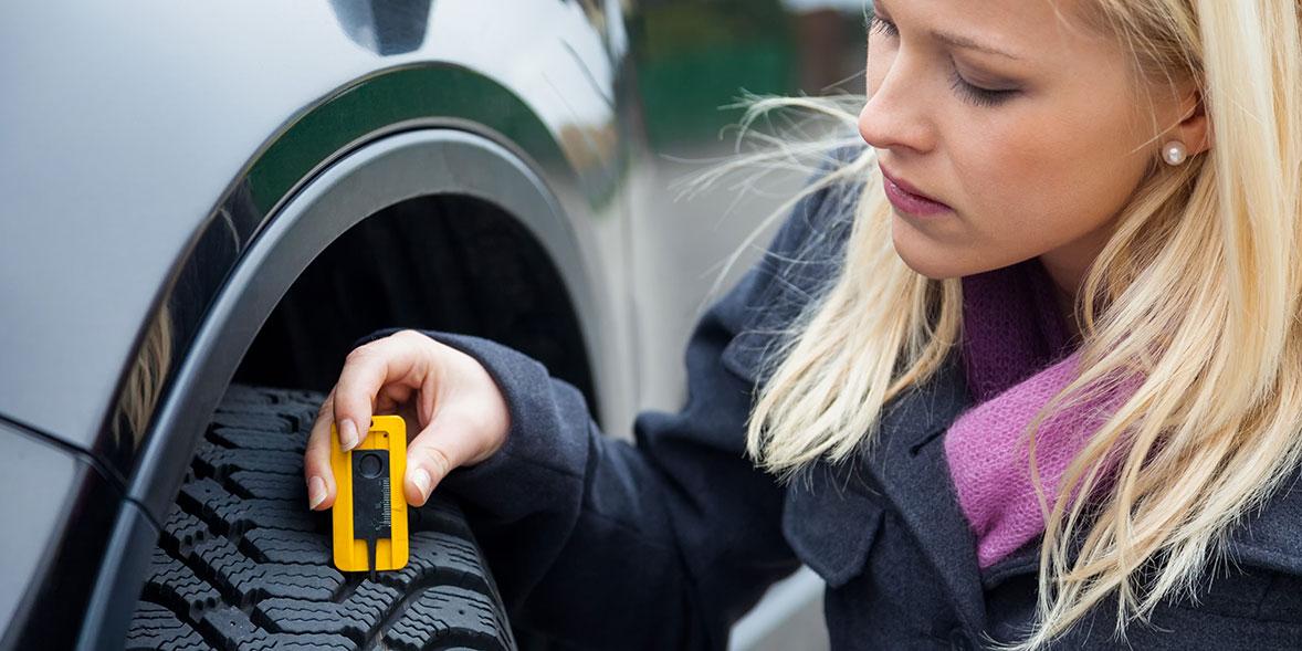 Tyre tread depth check