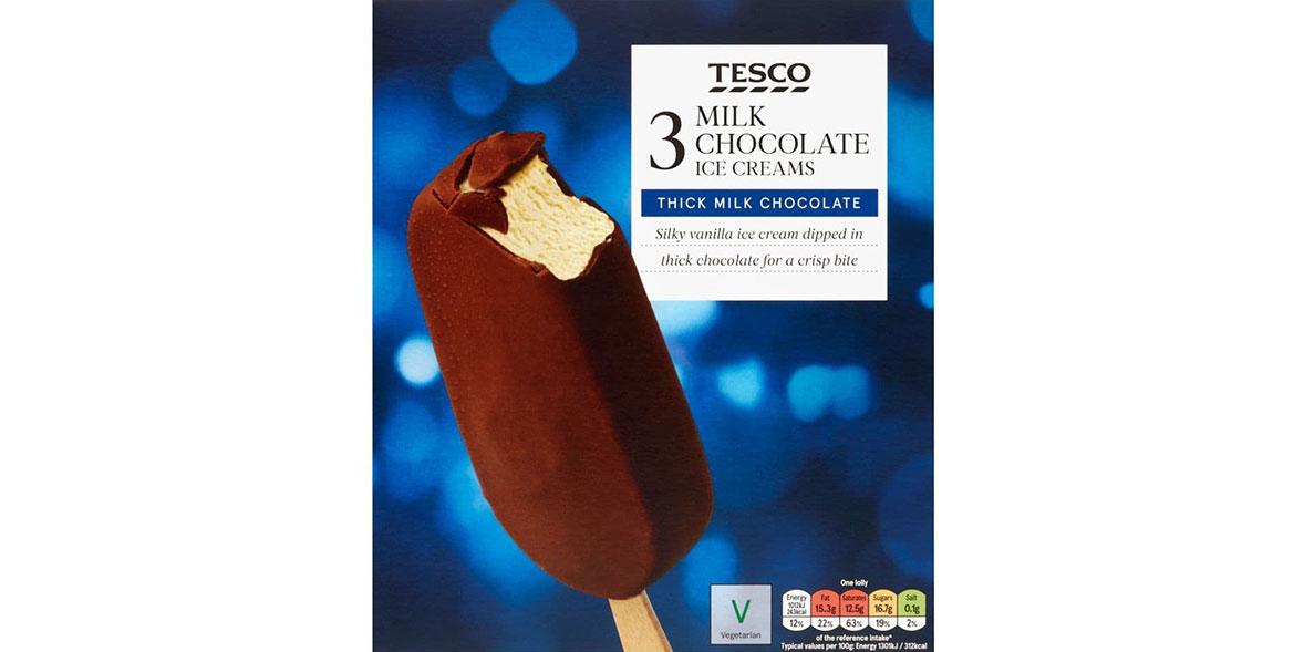 Tesco Milk Chocolate Ice Cream