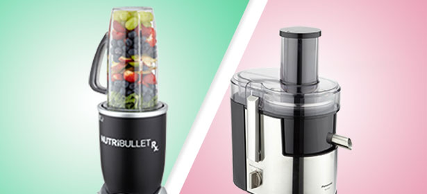 In image of a juicer and a blender.