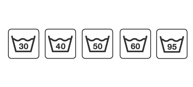 Washing temperatures symbols