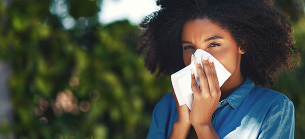 Best air purifiers: woman with allergies