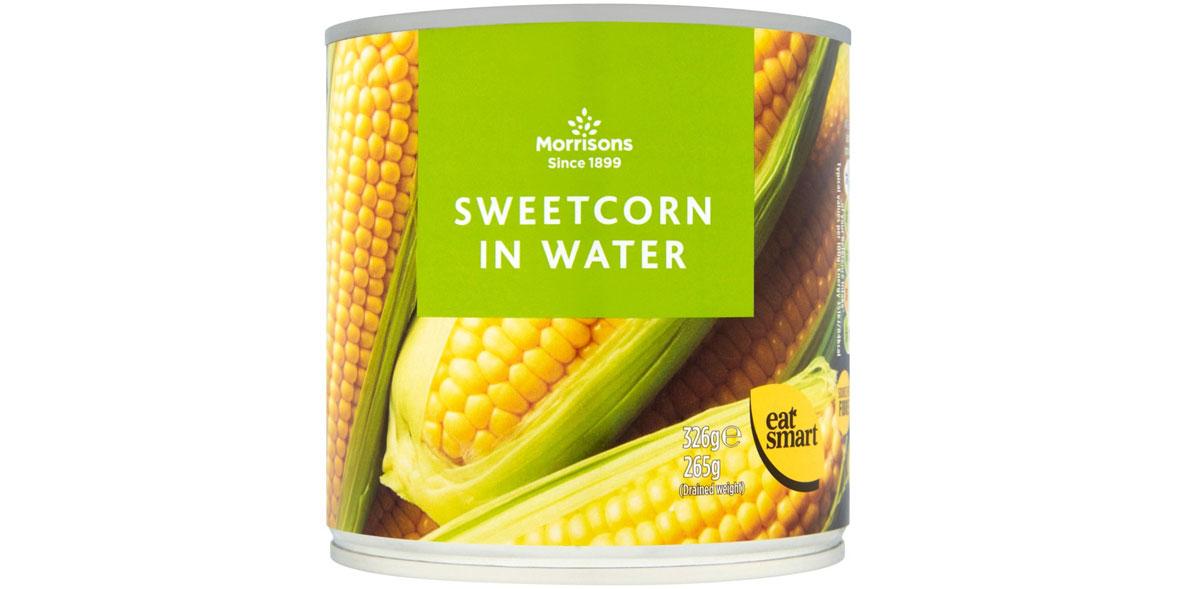 Morrisons sweetcorn in water