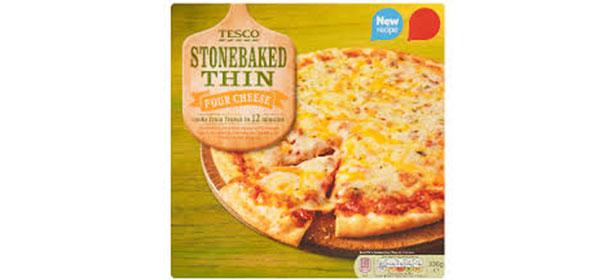 Tesco Stonebaked Thin Four Cheese Pizza