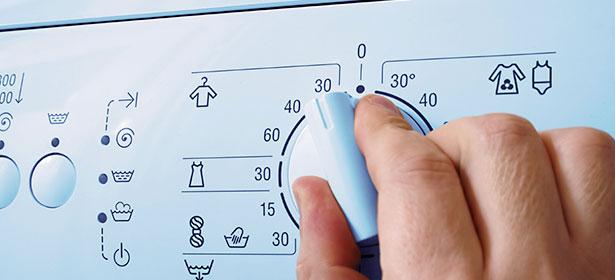 Setting washing machine control