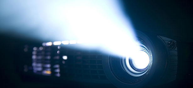 TV cinema projector dark