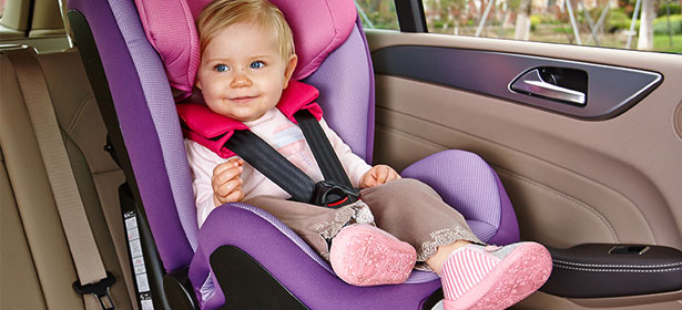 Toddler in isofix child car seat