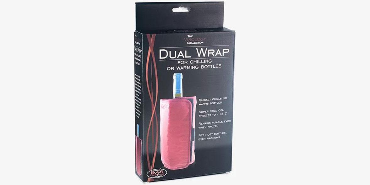 Mixology dual wrap cooler and warmer