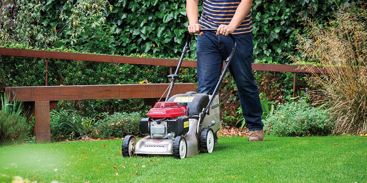 Cutting the lawn