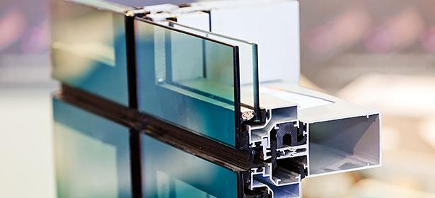 Double glazed glass in a window frame 453535
