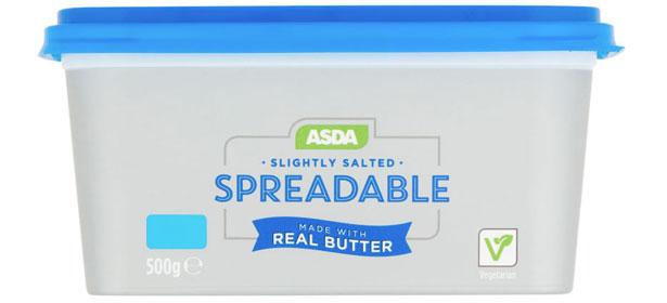Asda spreadable butter