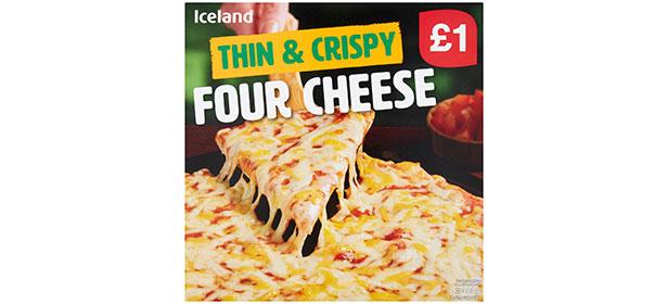 Iceland Thin & Crispy Four Cheese