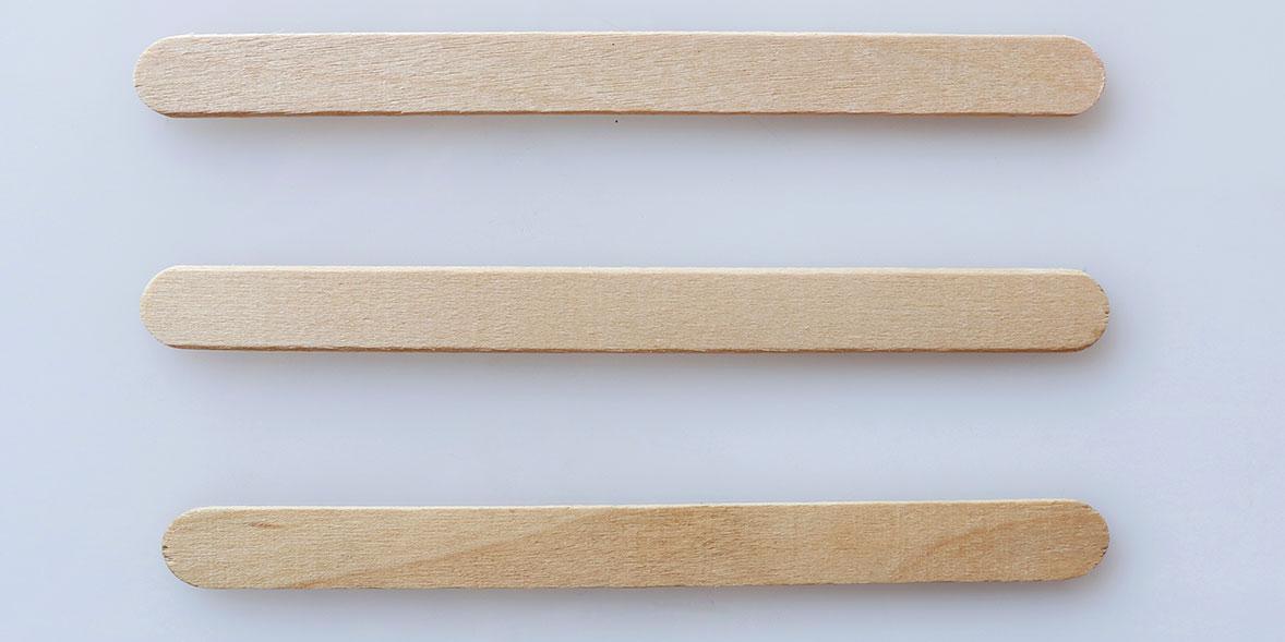 Wooden ice cream sticks