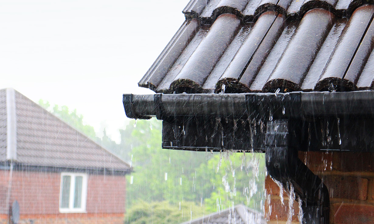 leaking gutter causing damp