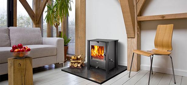 Modern wood burning stove 451102