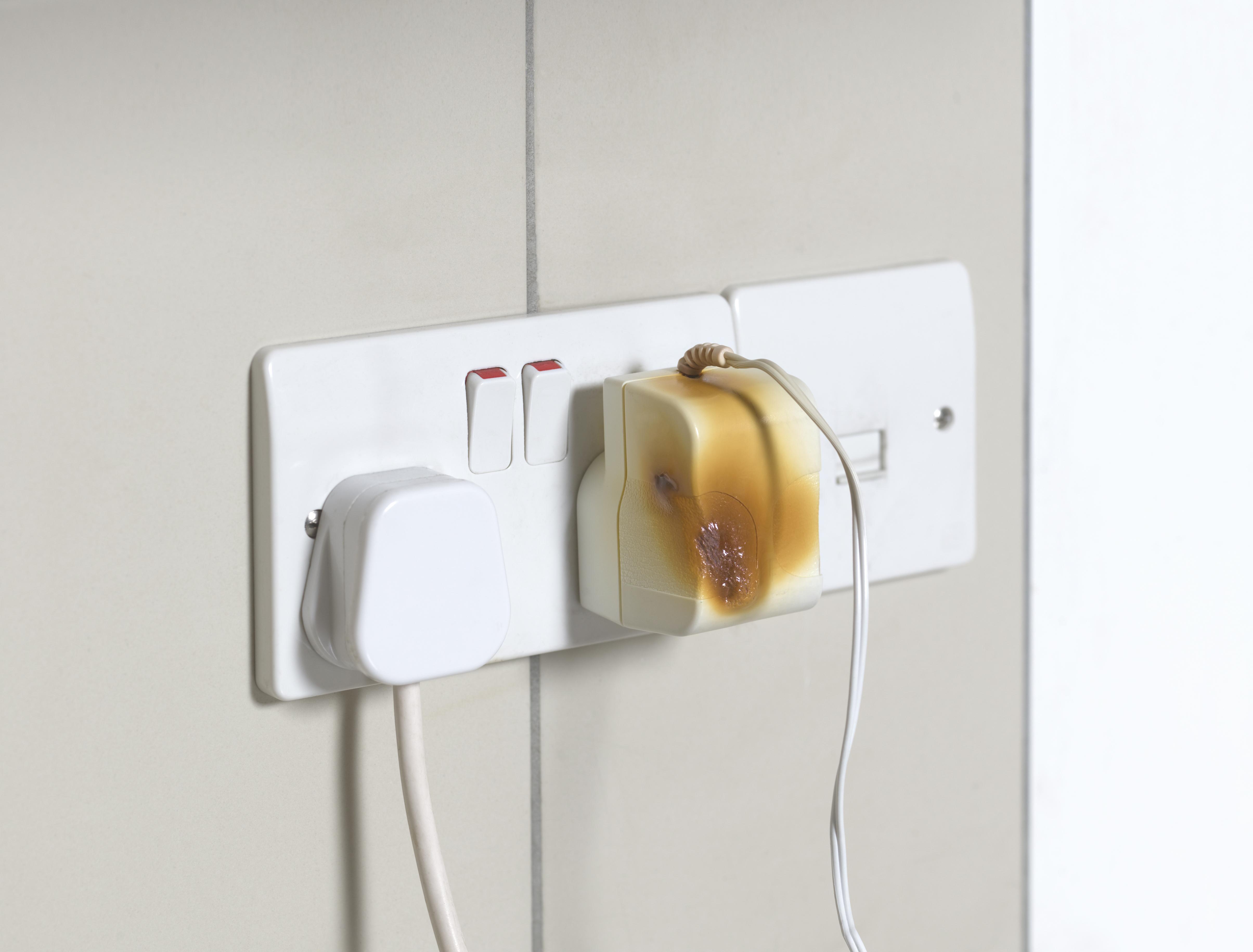 Power plug fire