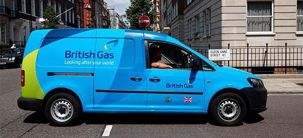 British Gas branded van