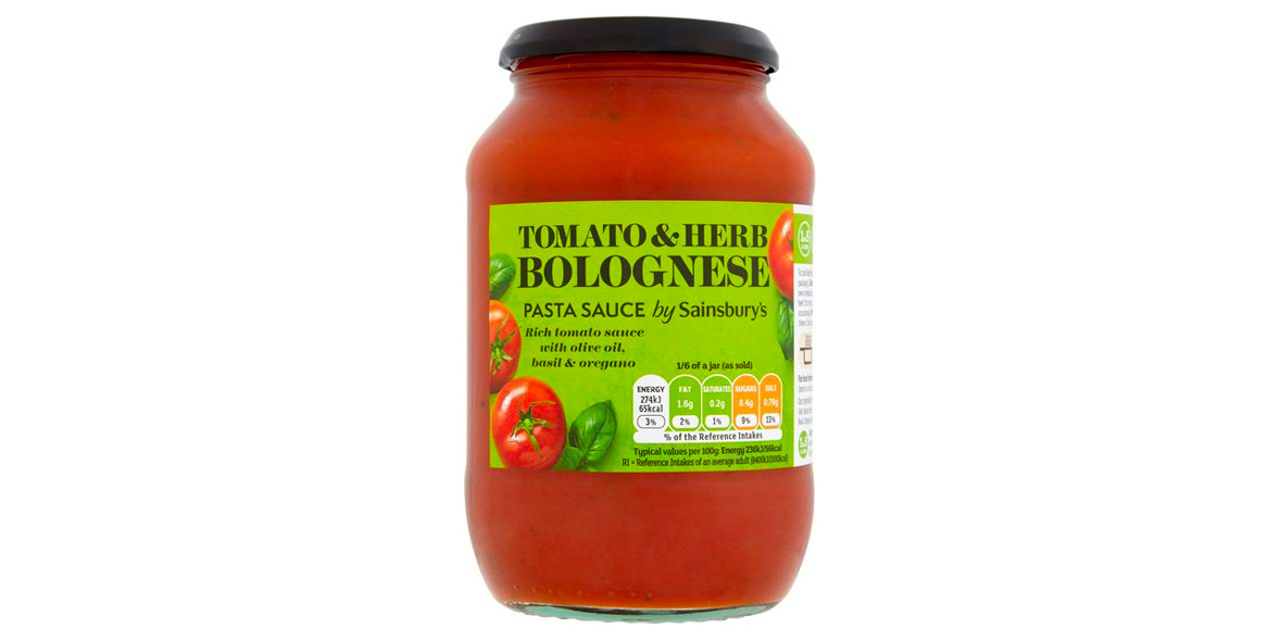 Sainsbury's Tomato & Herb Bolognese Pasta Sauce