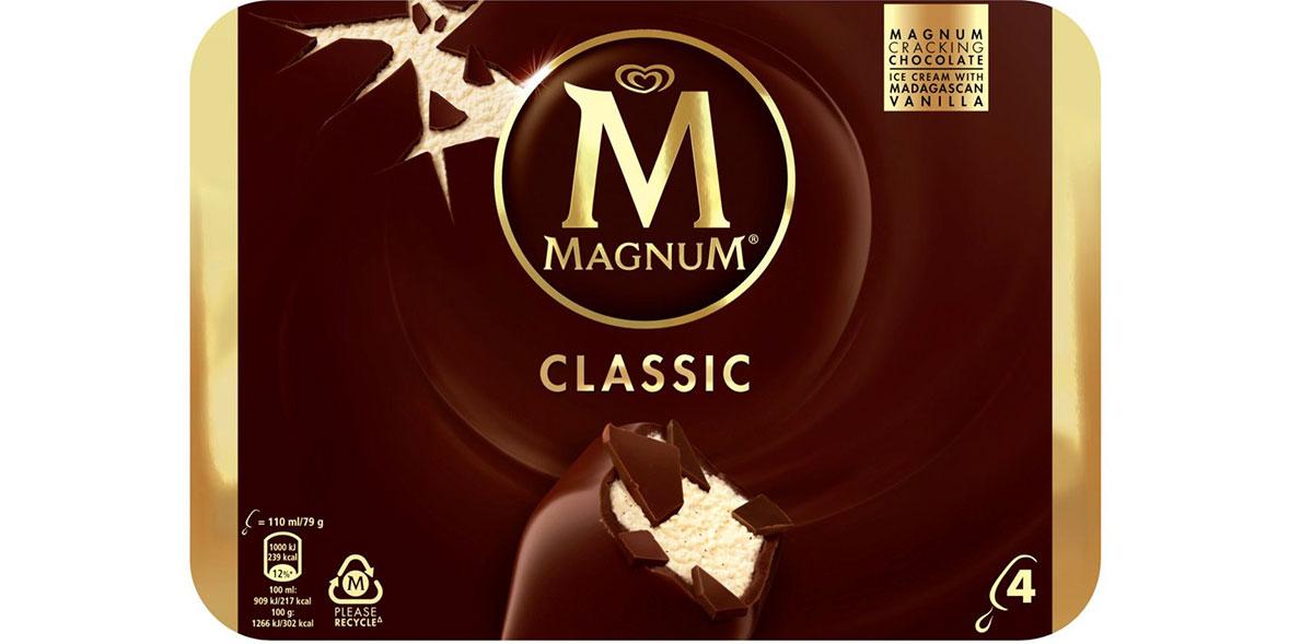 Magnum Classic ice creams