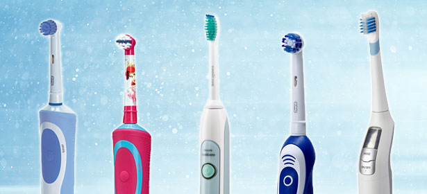Collage of various electric toothbrushes