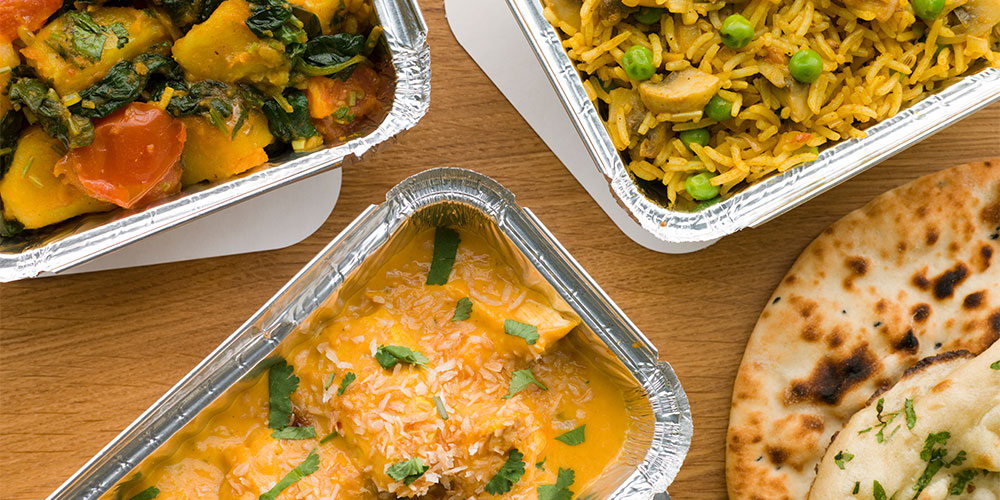 Takeaway Indian curry