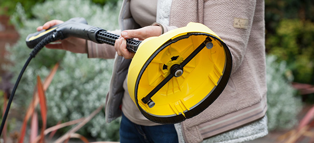 Pressure washer patio cleaner