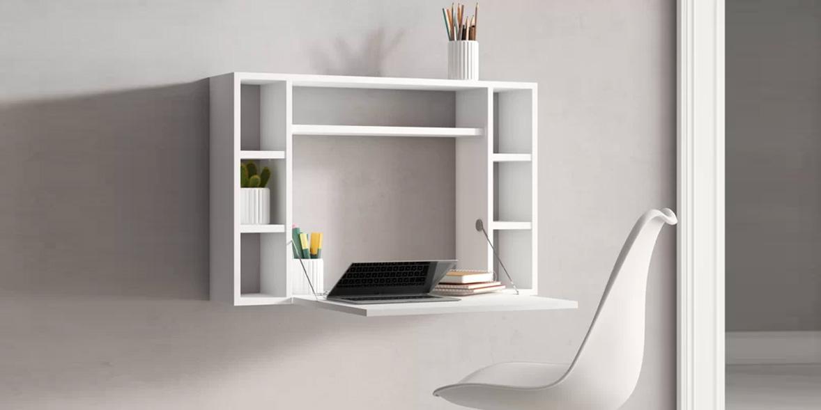 Above: Scheinman Floating Desk, Wayfair, £184.99