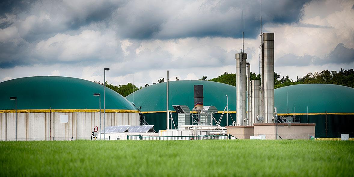 Biogas facility producing green gas