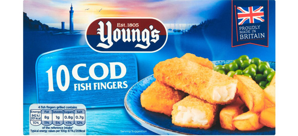 Young's 10 Cod Fish Fingers