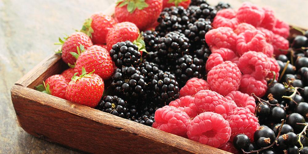 Strawberries, blackberries, raspberries