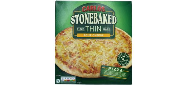 Aldi Carlos Stonebaked Four Cheese Thin Base Pizza