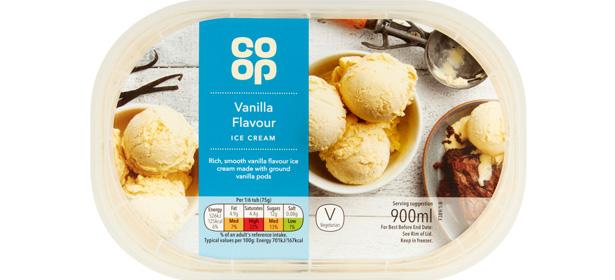 Co-op Vanilla Ice Cream