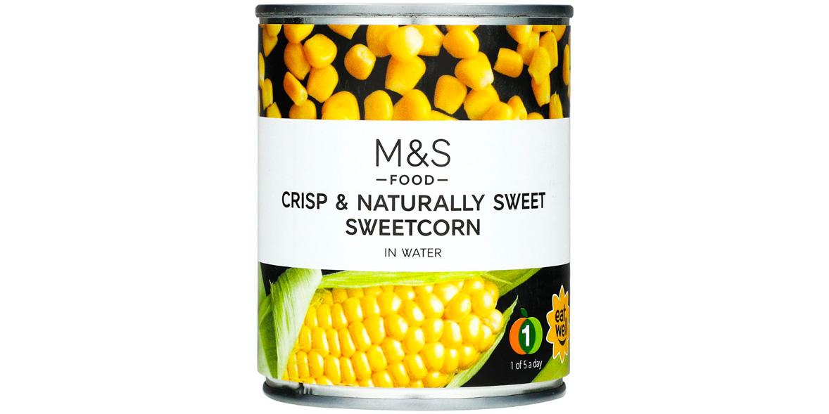 M&S naturally sweet sweetcorn tin