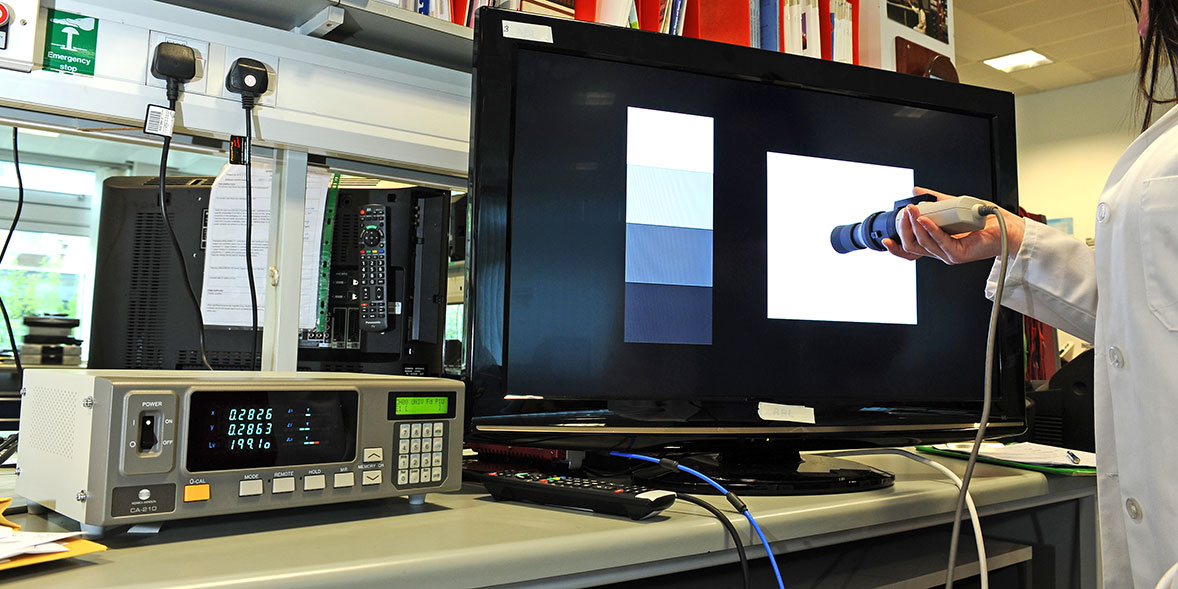 TV testing image, brightness
