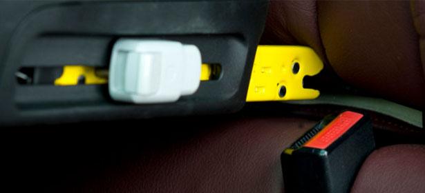 Isofix connectors close up