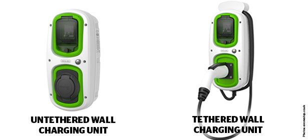 Untethered and tethered wallchargers