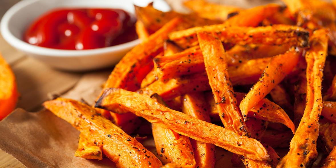 Cooked sweet potato fries
