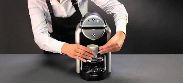 Using nespresso coffee machine