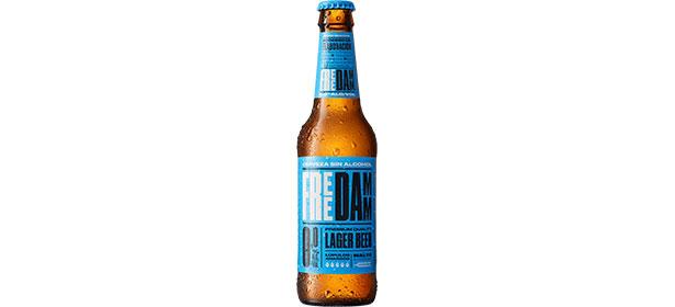 Free Damm 0.0 Lager Beer