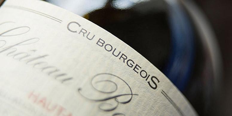 Cru wine label