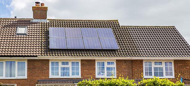 Solar panels on house 444741