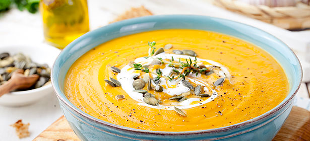 Pumpkin soup with seeds 465925