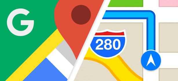 Google vs apple maps