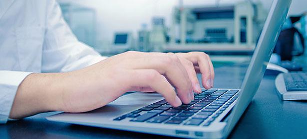 Testing using laptop