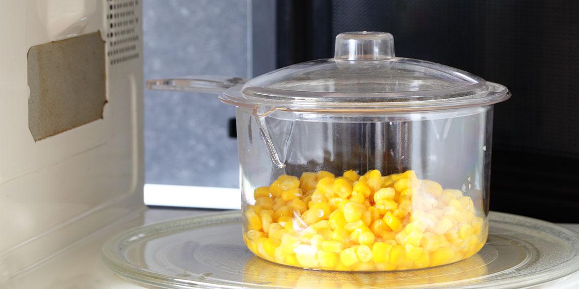 Sweetcorn in microwave