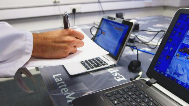 Lab testing of laptops