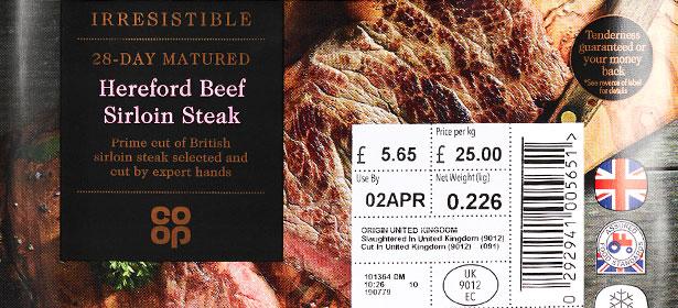 Co-op Irresistible 28-day Matured Hereford Beef Sirloin Steak