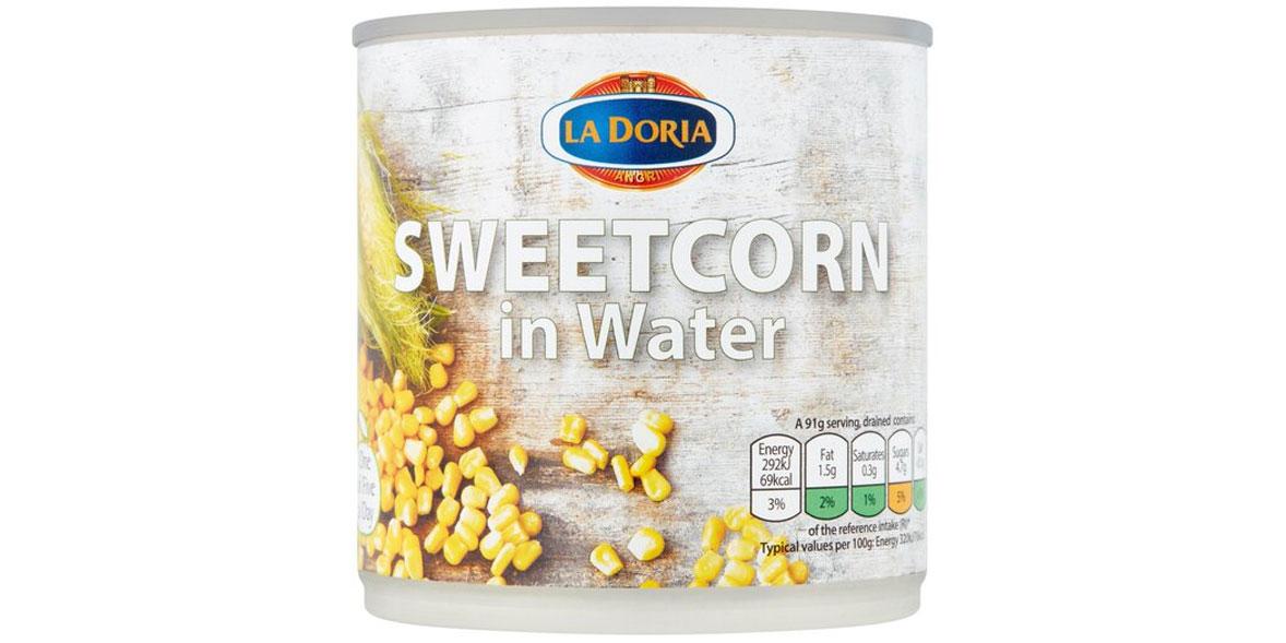 La doria sweetcorn in water