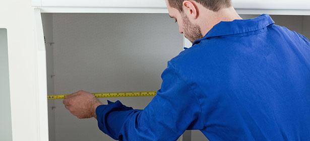 Measuring washing machine cabinet