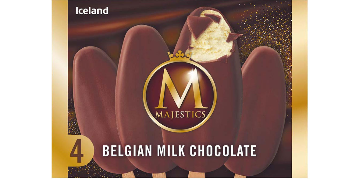 Iceland Majestics 4 Belgian Milk Chocolate